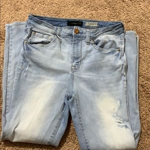 High waisted cropped jegging